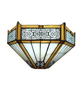 Htdeco-Applique-Tiffany-Lille-en-verre-Luminaire-de-table-et-de-chevet