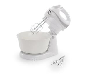 Handmixer Set Edelstahl Rührgerät  Knetmaschine Rührschüssel Küchenmaschine 300W