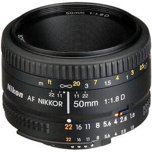 NEW-Nikon-AF-Nikkor-50mm-f-1-8D-Lens-for-DSLR-Cameras-ROR-Cleaning-Solution