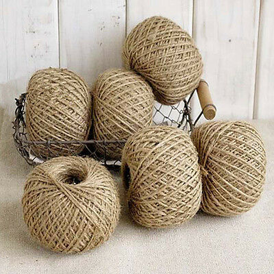 30m 2 Ply Natural Jute Hessian Burlap Thread String Yarn Hemp Butcher Twine