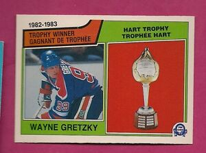 1983-84-OPC-203-OILERS-WAYNE-GRETZKY-HART-TROPHY-NRMT-CARD-INV-2644