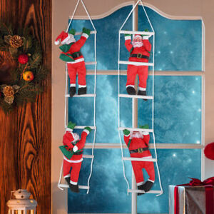 Santa-Claus-Climb-Ladder-Doll-Xmas-Christmas-Tree-Hanging-Decor-Home-Party-Gift