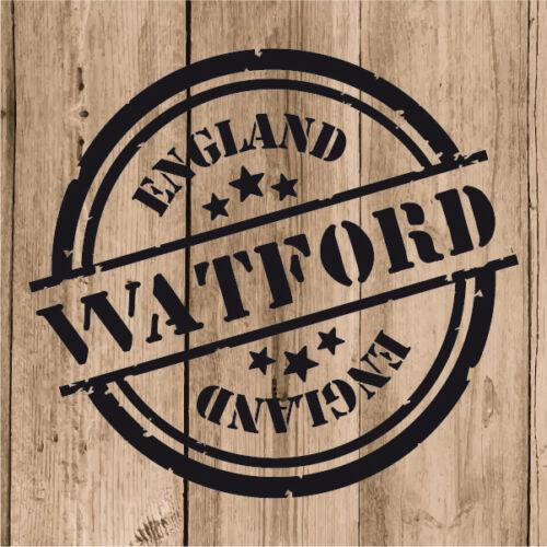 "Watford Sticker Vinyl 10 cm 4/"" Decal Stamp Watford England Wall Laptop Car"