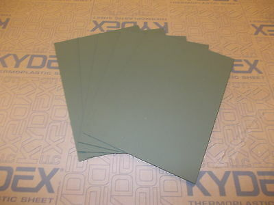5 Pack 3 mm A4 KYDEX T Sheet 297 mm X 210 mm P-1 Haircell Black,Holster Sheath