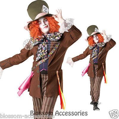 C694 Licensed Mad Hatter Alice in Wonderland Halloween Fancy Dress Adult Costume