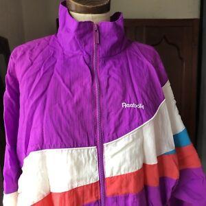 Vintage-1990-039-s-REEBOK-Unisex-Neon-Windbreaker-Jacket-Large-L