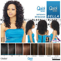 Bella Outre Quick Weave Synthetic Hair Half Wig Long Curly Style