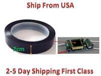 Insulation Adhesive Mylar Tape Hig-temp Transformer Coil Wrap Black 2cm66m