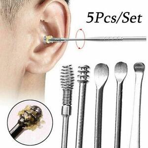 5Pcs-Stainless-Steel-Ear-Pick-Curette-Wax-Removal-Kit-Earpick-Scoop-Cleaner-Tool
