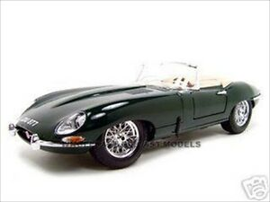 1961 JAGUAR E TYPE CONVERTIBLE GREEN 1:18 CAST CAR MODEL BY ...