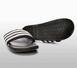 the latest a0439 fa0bd La imagen se está cargando Adidas-NUEVO-DE-HOMBRE-Adilette-CF-Ultra-Black-