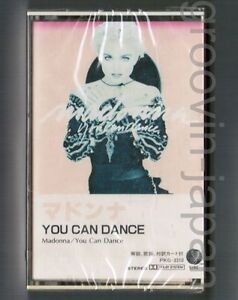 Sealed-MADONNA-You-Can-Dance-JAPAN-CASSETTE-TAPE-PKG-3310-w-PS-Discoloration