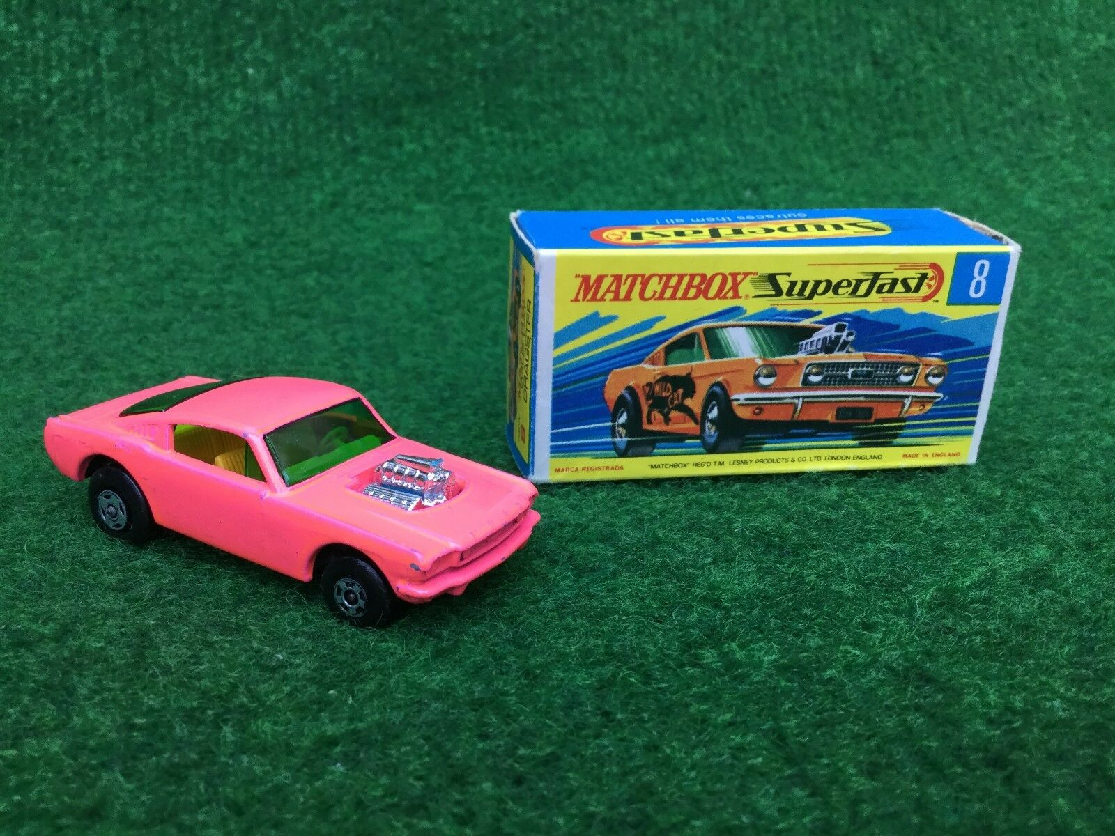 Matchbox Lesney Superfast No 8 WILD CAT Dragster Boxed