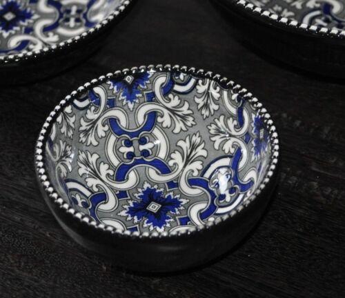2x Schale Dip Schälchen Schwarz Orientalisches Muster Servierschale Ø 11 cm