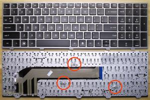 NUOVA-Tastiera-per-HP-ProBook-4540-4540S-4545-4545S-Laptop-con-CORNICE-d-039-argento
