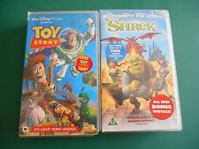 WALT DISNEY TOY STORY & SHREK VHS VIDEOS