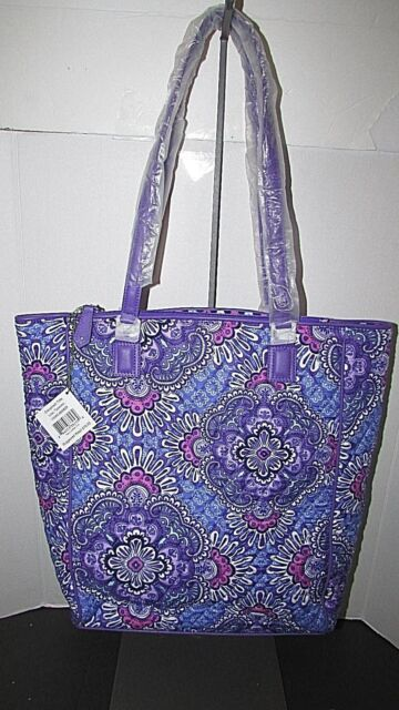 Authentic Vera Bradley Crosstown Tote Bag Lilac Tapestry for sale ... cd6c2ecca47f8