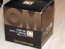 OLYMPUS OM ZUIKO 80mm F4 AUTO MACRO BELLOWS LENS NEW IN BOX LATER MC VERSION