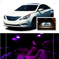 For Hyundai Sonata w sunroof 2011-14 Pink LED Interior Kit + White License Light