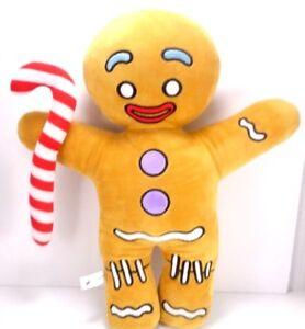 Gingy Gingerbread Man Plush Shrek Dreamworks 16 Stuffed Animal Candy Cane Xmas Ebay