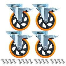 Dampl 5 Inch Plate Casters Wheels 2200lbs Heavy Duty Casters With Brake