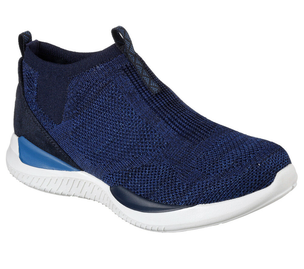 NOUVEAU SKECHERS Femmes Baskets Baskets Comfort Knit Matrixx-Moderne Essentiel Bleu