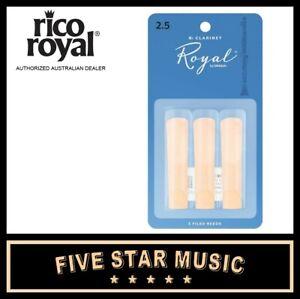 Rico Royal Bb Clarinet Reeds Strength 2.5 RCB0325 3-pack
