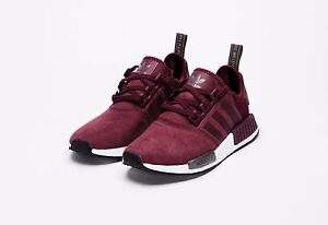 buy popular 5d97b 08d4d ADIDAS NMD R1 SUEDE BURGUNDY S75231 SIZE 10.5 WOMEN 9.5 MEN BOOST ...