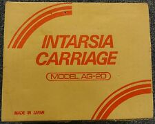 Knitmaster Intarsia Carriage Model AG-20: boxed and with instructions