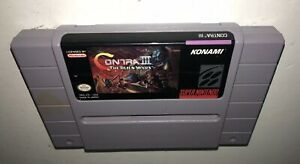 AUTHENTIC-Super-Nintendo-Game-CONTRA-III-ALIEN-WARS-Works-SNES-Fun-Action