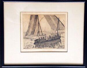 EXQUISITE ANTIQUE ART ETCHING ORIGINAL RARE SIGNED ARTWORK BY CHARLES SINDELAR