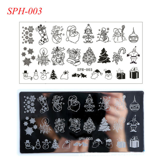 Christmas Nail Art Stamping Plates Image Stamp Template Manicure