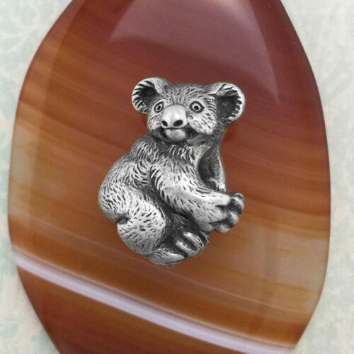 Koala Pewter Bead Charm Australian Made