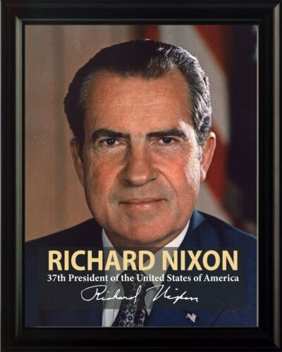 Richard Nixon 37th President Poster Picture or Framed Wall Art