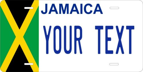 Jamaica Flag v2 License Plate Personalized Custom Auto Bike Motorcycle Moped