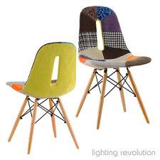 Dsw Silla Eames inspirado Patchwork patrones Cojín Salón Comedor Silla