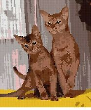 Abyssinian Needlepoint Canvas (Cat/Animal)