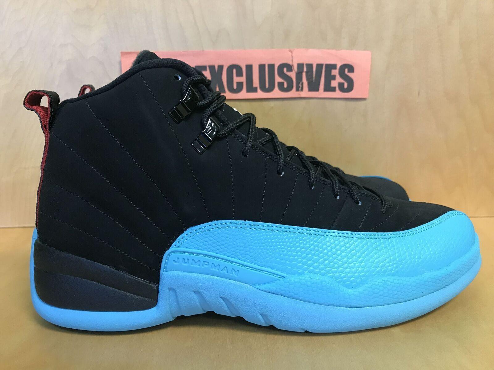 6908d07ff69 Nike Air Jordan 12 Retro XII Black Gamma Blue Gym Red 130690-027 Size 10