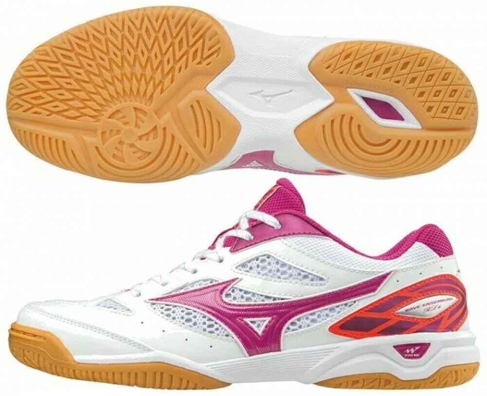 Mizuno Mesa Ping Pong Zapatos Mujer Ondulado Kaiser Burdeos Rl4 81gb1721