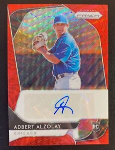 2020 Panini Prizm ADBERT ALZOLAY Autograph Rookie Red Wave Refractor SP /75
