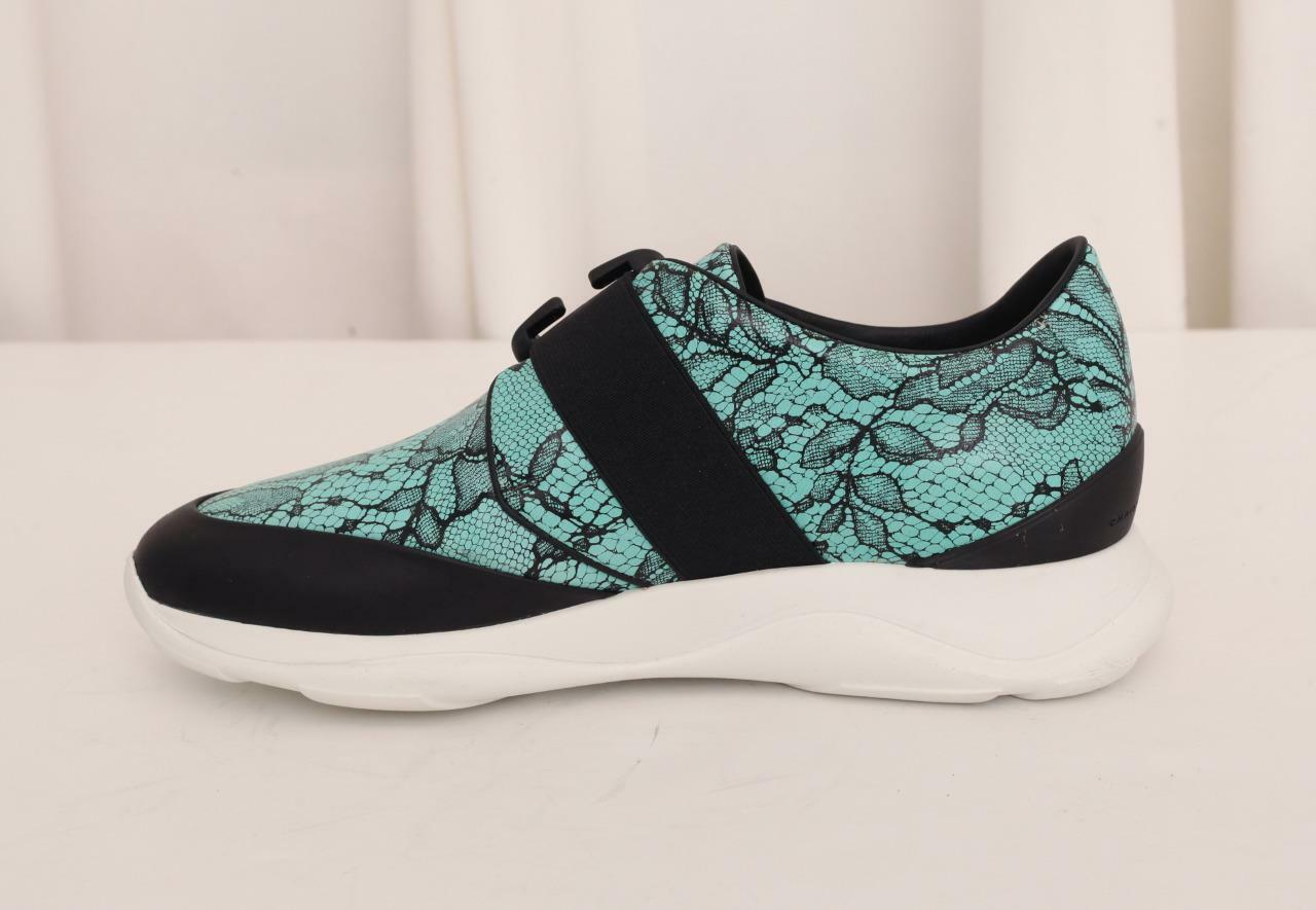 Christopher Kane Zapatillas De Cuero Para Mujer de encaje Entrenador con motivos florales Entrenador encaje Zapato 7-37 Nuevo 445 d60a93