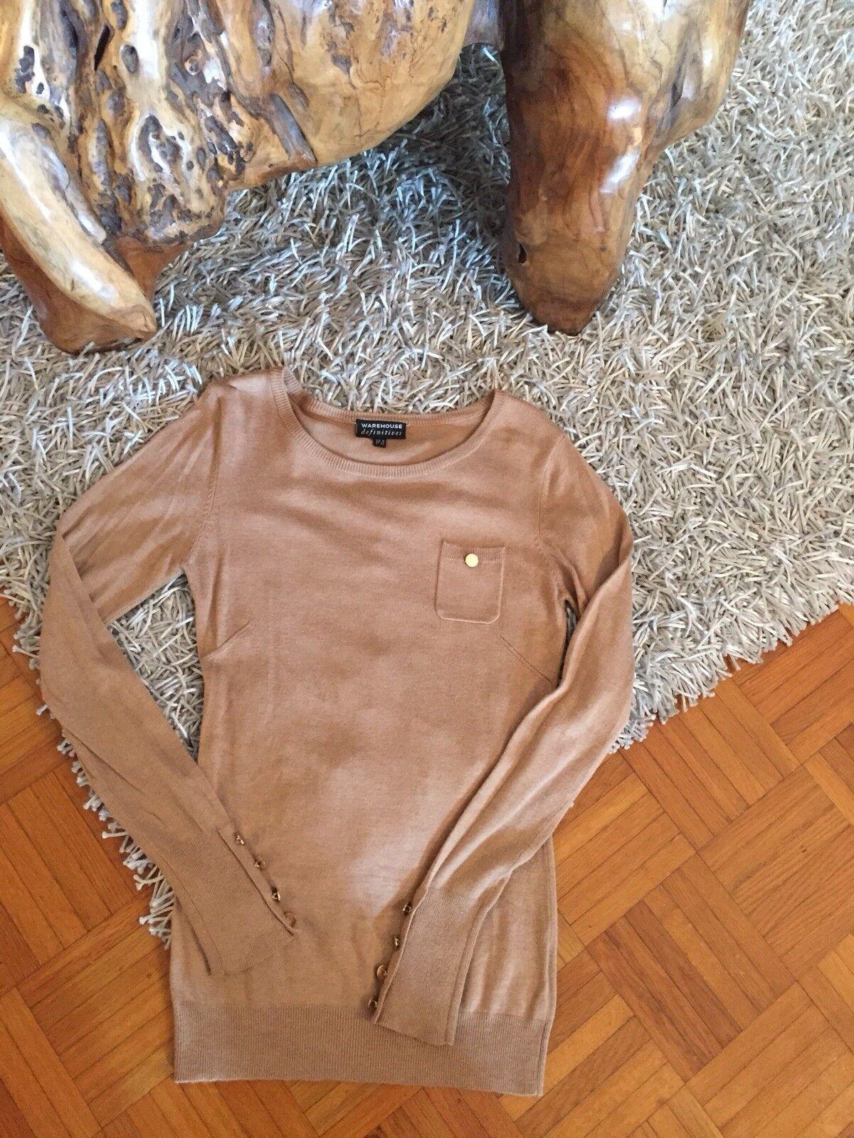 Warehouse donna maglione beige tg. 36 (34) VISCOSA