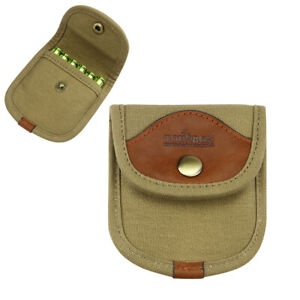 Tourbon-Rifle-Ammo-Pouch-Holder-Cartridges-Carry-6-Shell-30-06-308-Hunting-Brown