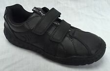 G H F Clarks NATE MAZE Black Leather ACTIVE AIR School Boys Shoes/_E