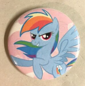 """My Little Pony Rainbow Dash Button Badge 2.25/"""" Pinback Pin MLP Jewelry Gift NEW"""