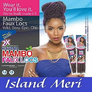 Janet Collection Havana Mambo Faux Locs Crochet Synthetic Hair