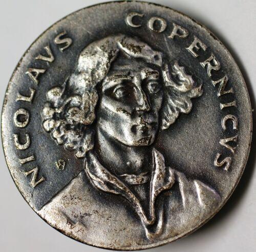 Nicolas Copernicus Polish Scientist Brilliant Uncirculated Small Silver Medal