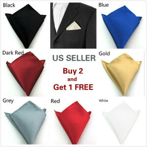 Men-039-s-Satin-Silk-Pocket-Square-Hankie-Hankerchief-Wedding-Party-Formal-Suit