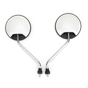 Rear View Round Mirrors 8MM Universal For Motorcylce Scooter Moped 50cc-150cc WH