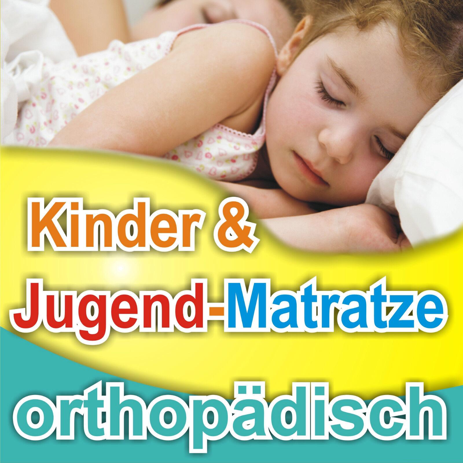 Kinderbett-Matratze KJ-14 90x200cm, Allergiker geeignet Bezug waschbar